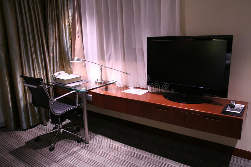 Download Hotel Desk And Reading Lamp Stock Image - Image: 10553331