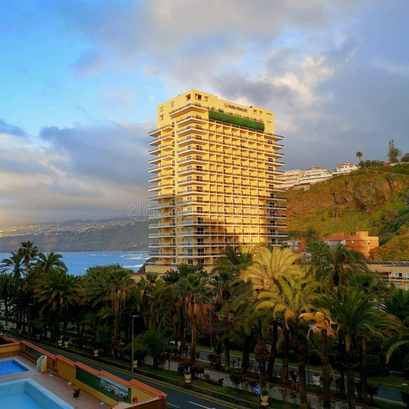 Hotel di Bahia Principe a Puerto de la Cruz, Tenerife, Spagna immagine stock