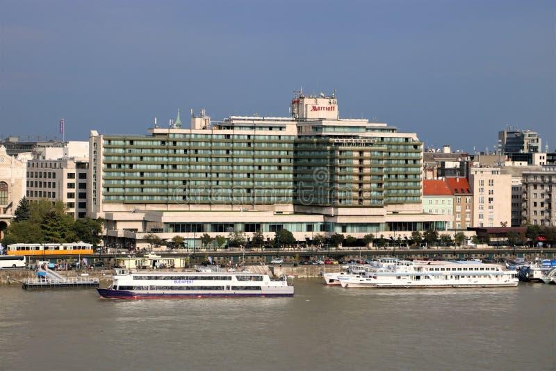 Hotel di Budapest Marriott immagini stock libere da diritti