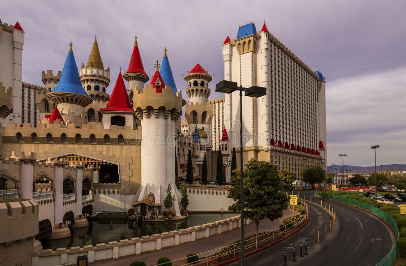 Hotel di Excalibur a Las Vegas immagini stock libere da diritti