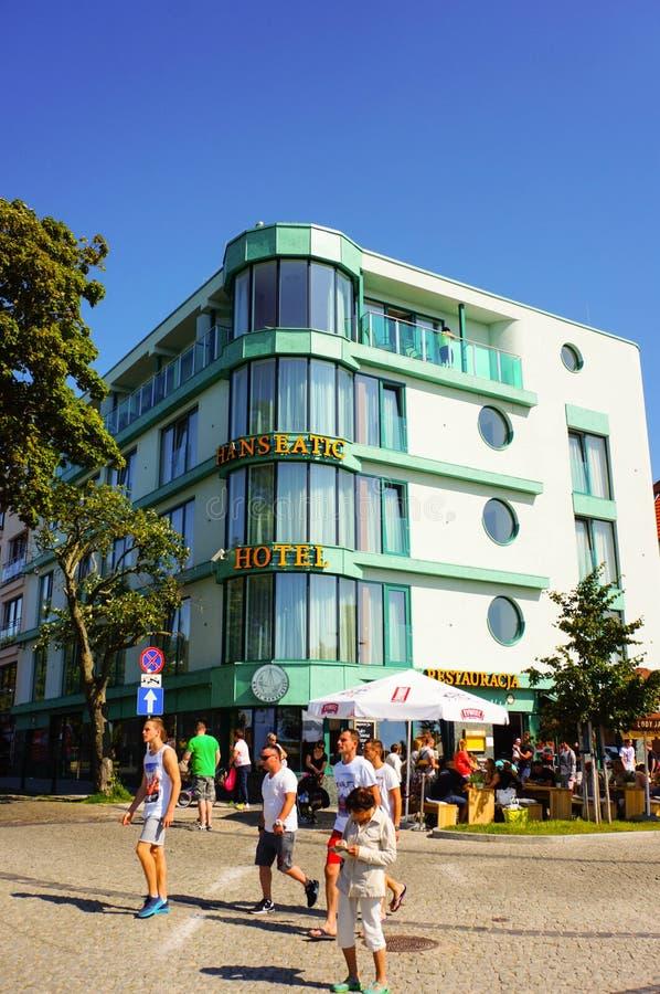 Hotel di Kolobrzeg fotografie stock libere da diritti