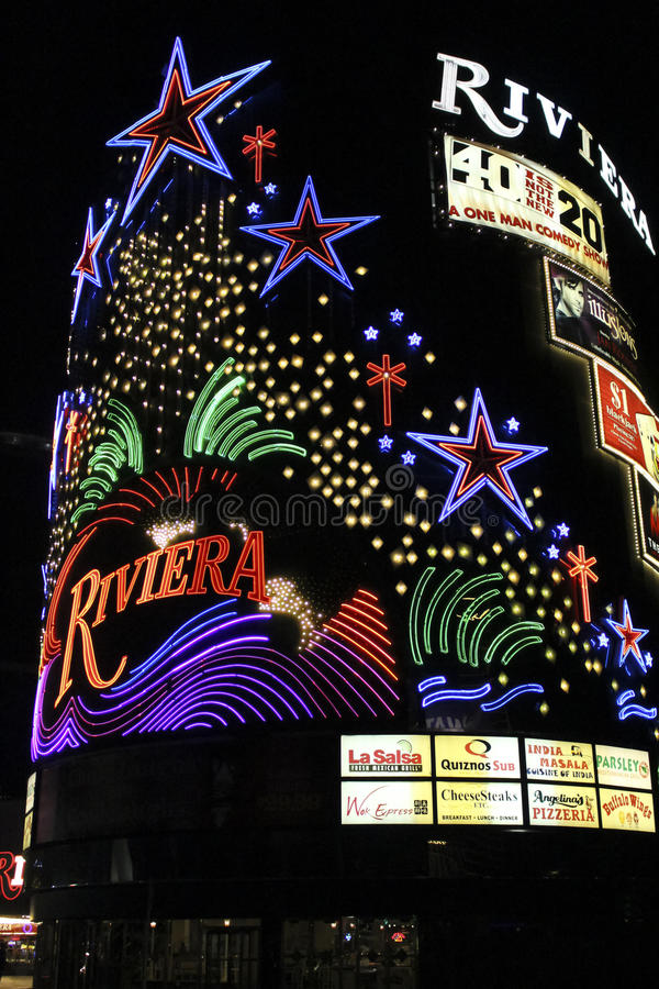Hotel di Las Vegas Riviera immagine stock libera da diritti