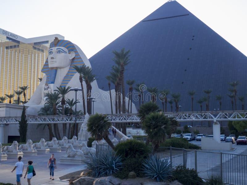 Hotel di Luxor e casinò, Las Vegas, U.S.A. fotografie stock libere da diritti