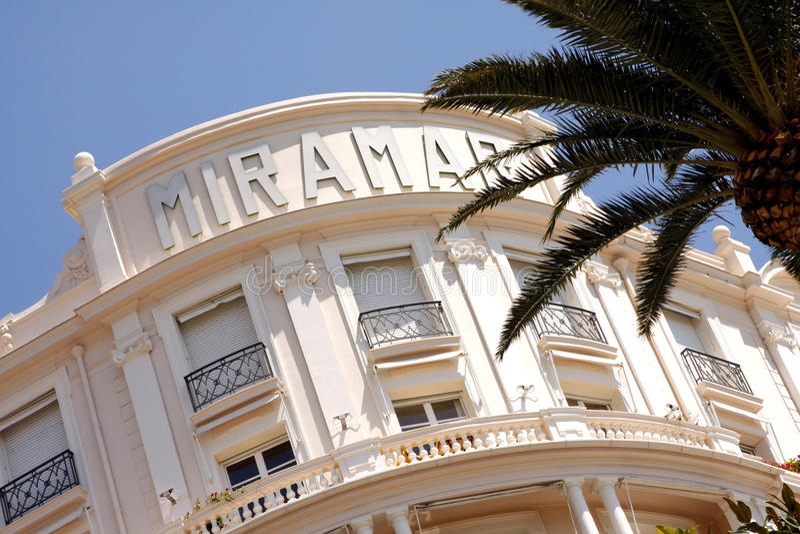 Hotel di Miramar - Cannes fotografia stock libera da diritti