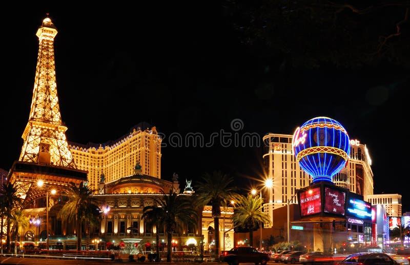 Hotel di Parigi e casinò, Las Vegas fotografie stock libere da diritti