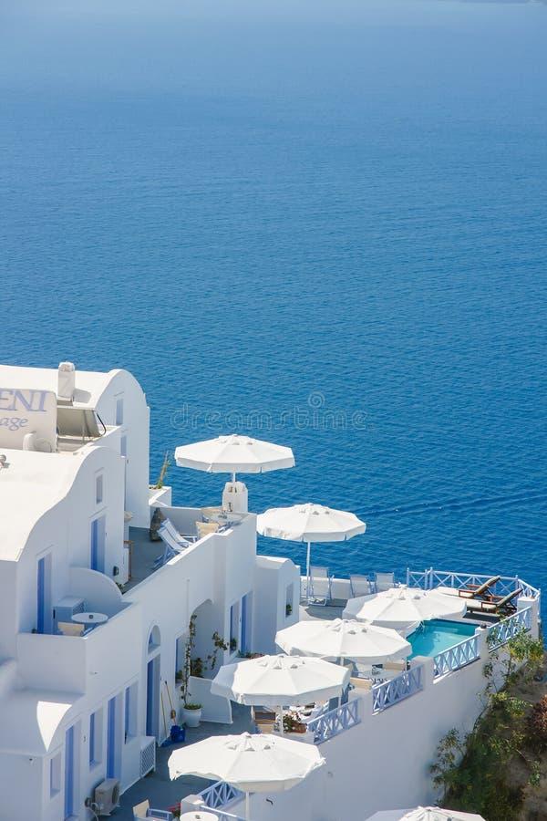Hotel di vista sul mare di Greate fotografia stock