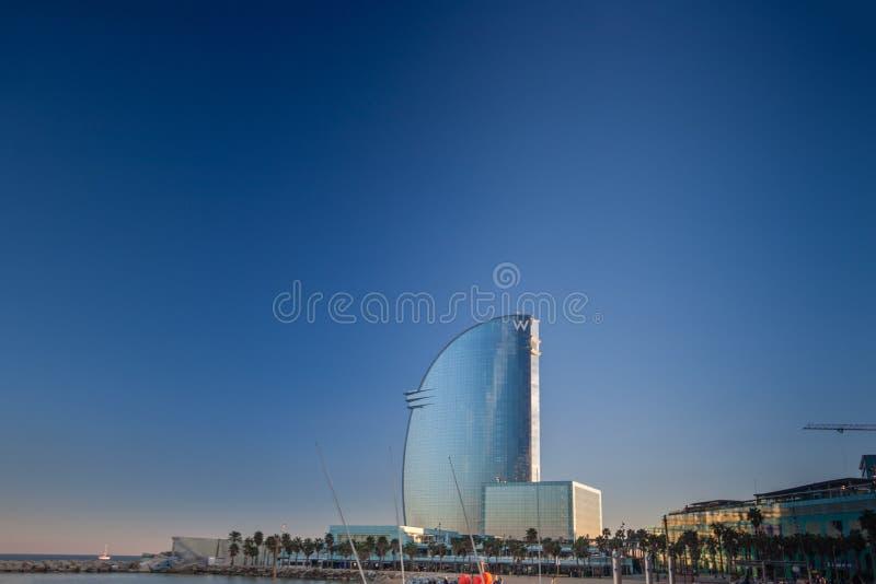Hotel di W Barcellona immagini stock libere da diritti