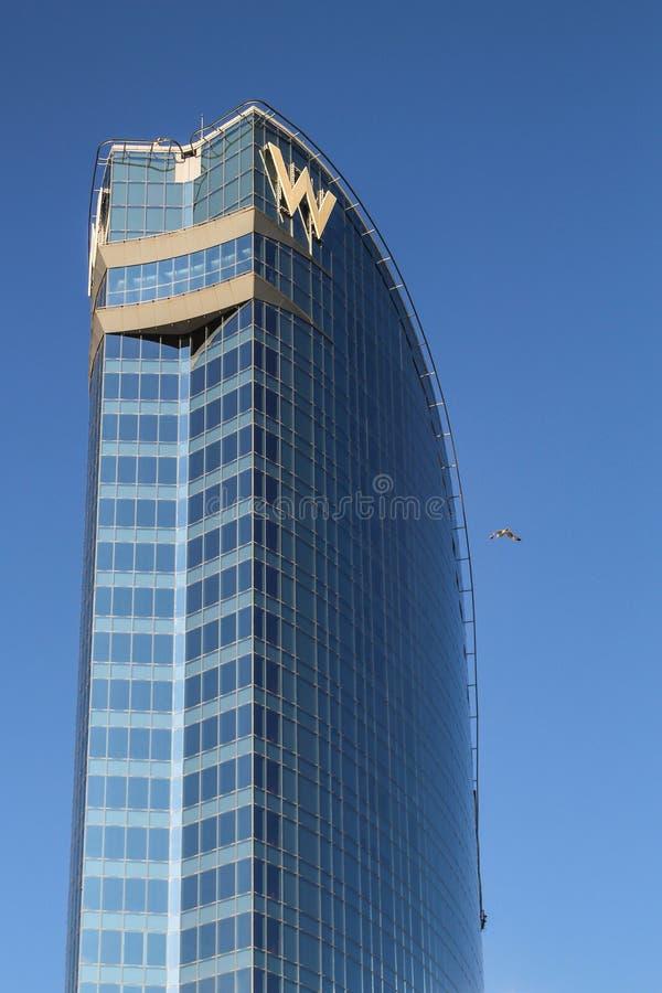 Hotel di W, Barcellona, Spagna immagine stock