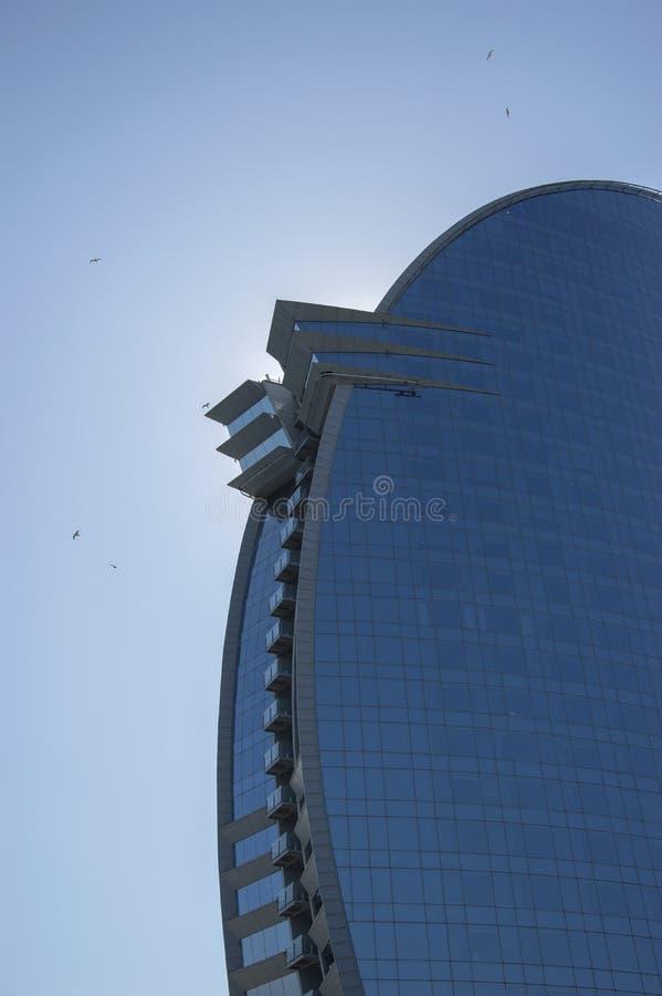 Hotel di W, Barceloneta, Barcellona, Spagna, settembre 2016 immagine stock