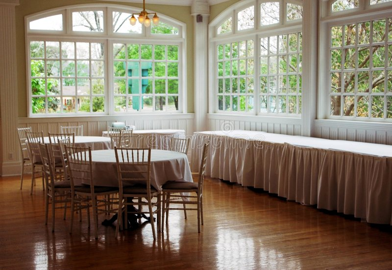 Hotel dining room stock images
