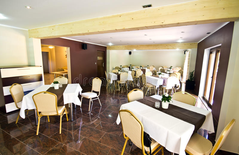 Hotel dining room stock photography