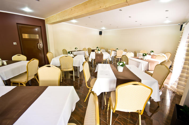 Hotel dining room stock image