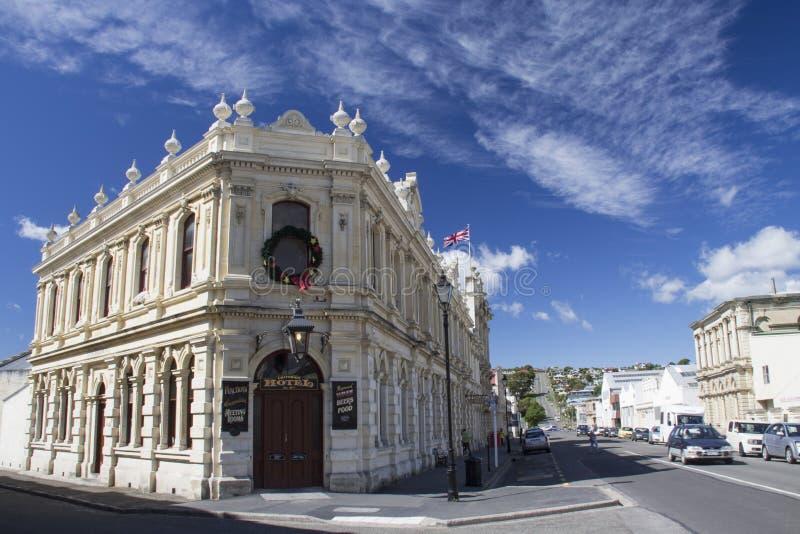 Hotel do critério em arredores vitorianos do ` s de Oamaru, Nova Zelândia foto de stock royalty free