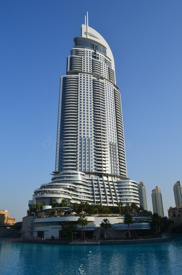 Hotel do endereço, Dubai fotografia de stock royalty free