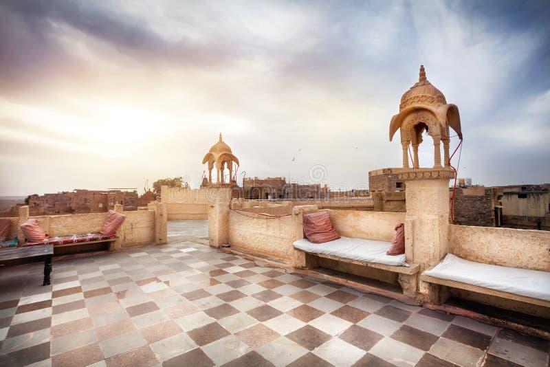 Hotel do forte de Jaisalmer foto de stock