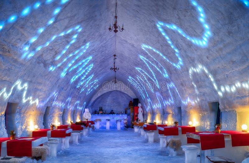 Hotel do gelo - lago Romênia Balea imagens de stock
