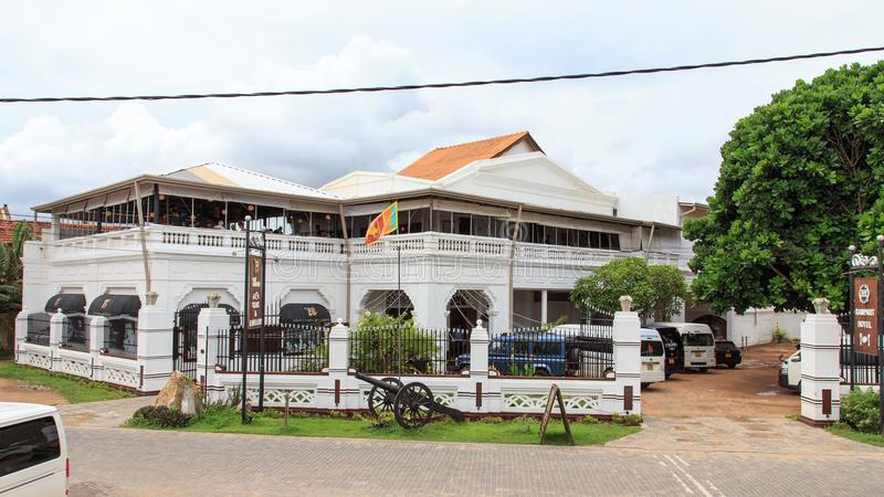 Hotel do muralha, construção colonial luxuosa no forte Galle, Sri Lanka fotos de stock
