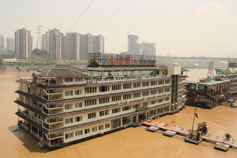 Hotel do navio em Chongqing, China fotografia de stock