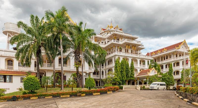 Hotel do palácio de Champasak em Pakse, Laos foto de stock