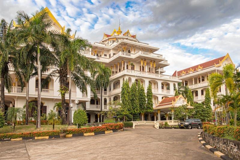 Hotel do palácio de Champasak em Pakse, Laos fotos de stock