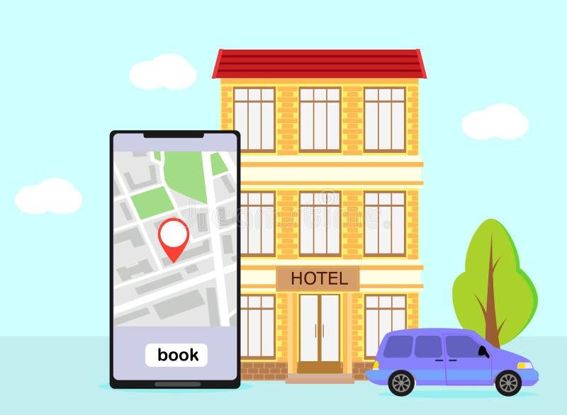 Hotel do registro, sala, ilustração royalty free