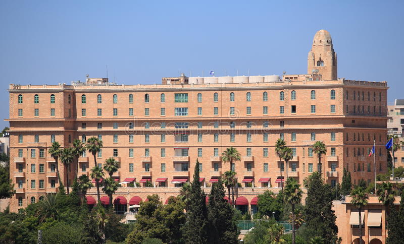 Hotel do rei David no Jerusalém, Israel fotos de stock royalty free