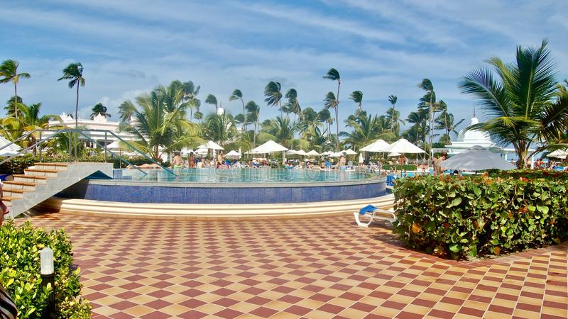 Hotel in Dominican Republic. Swimming Pool stock photos