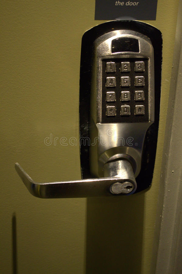 Hotel door lock system. With 12 keys, intelligent functions royalty free stock photos