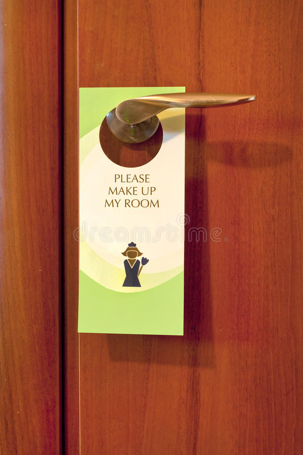 Download Hotel Door Note stock image. Image of maid, profession - 36737345