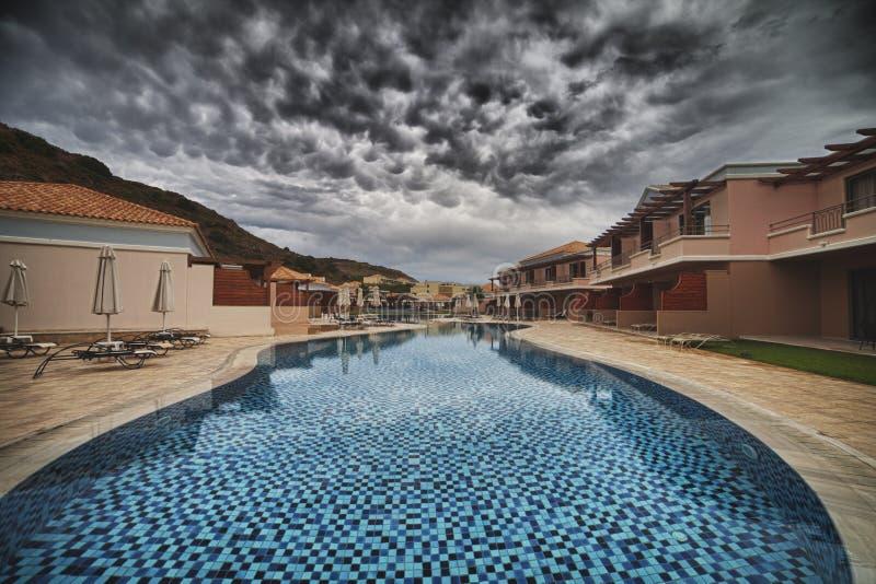 Hotel dos termas de Marquise Luxurious do La em Grécia fotografia de stock royalty free