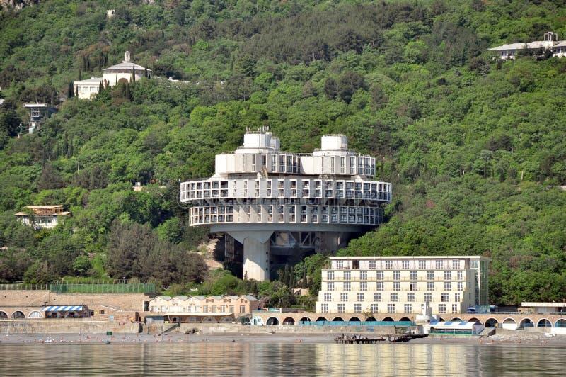 Hotel Druzhba royalty-vrije stock foto