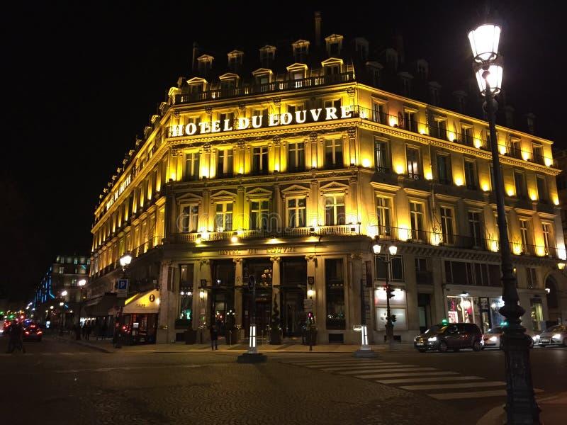 Hotel Du Louvre, Paris foto de stock royalty free