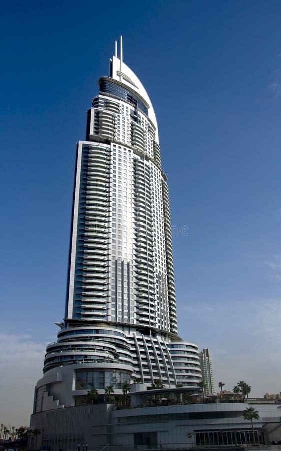 Hotel Dubai do endereço fotografia de stock royalty free
