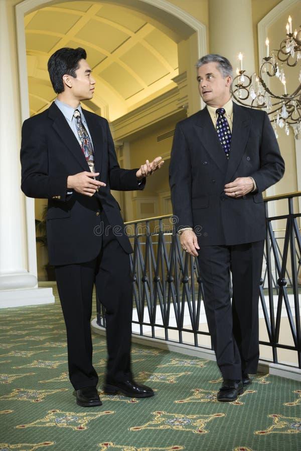 hotel dwie biznesmena zdjęcie royalty free