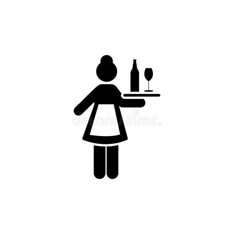Hotel, dziewczyna, usługi, gosposi ikona Element hotelowa piktogram ikona Premii ilo?ci graficznego projekta ikona podpisz symbol ilustracji