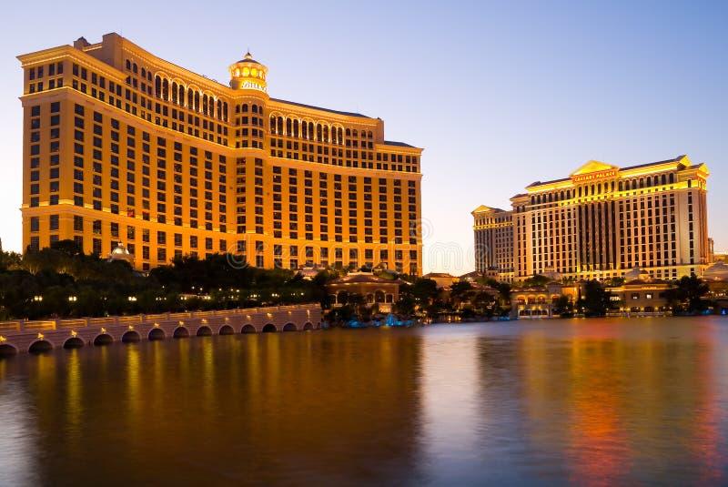 Hotel e Caesars Palace de Bellagio fotos de stock royalty free