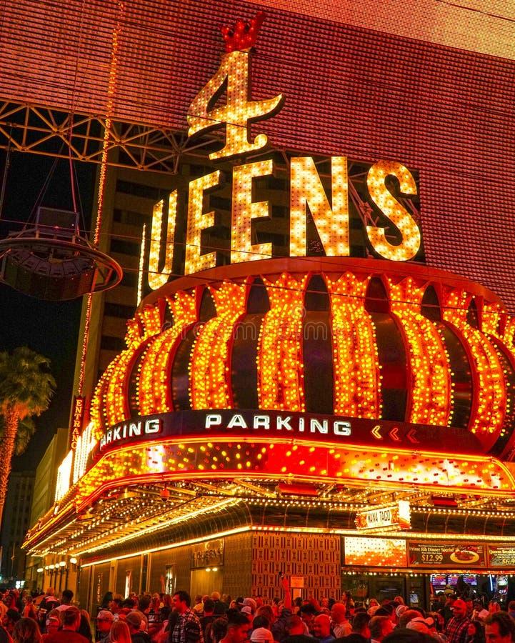 Hotel e casinò del Queens quattro a Las Vegas - LAS VEGAS - NEVADA del centro - 23 aprile 2017 immagini stock
