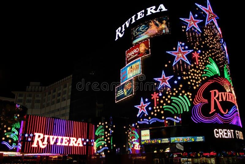 Hotel e casinò del Riviera fotografie stock libere da diritti