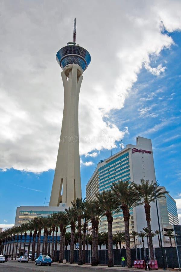 Hotel e casinò della stratosfera a Las Vegas immagini stock libere da diritti