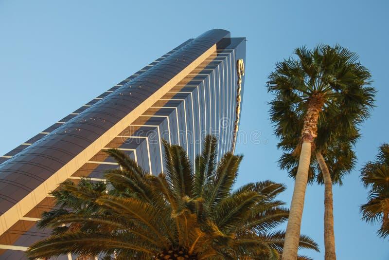 Hotel e casinò di bis all'alba a Las Vegas, Nevada. fotografia stock