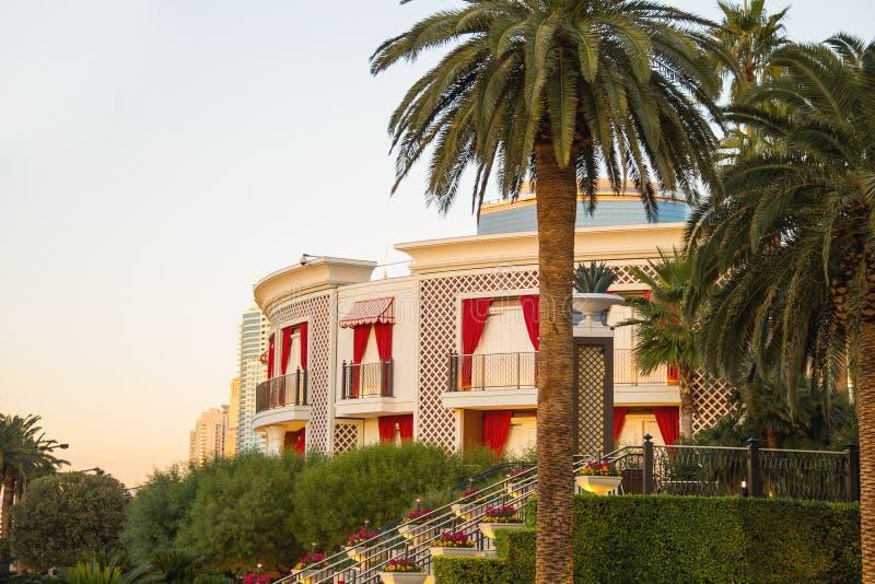 Hotel e casinò di bis a Las Vegas immagine stock libera da diritti