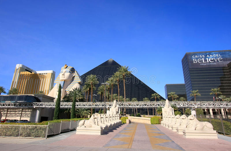 Hotel e casinò di Luxor a Las Vegas, Nevada fotografia stock