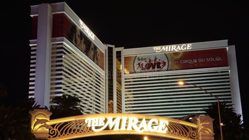 Hotel e casinò di miraggio a Las Vegas immagine stock libera da diritti