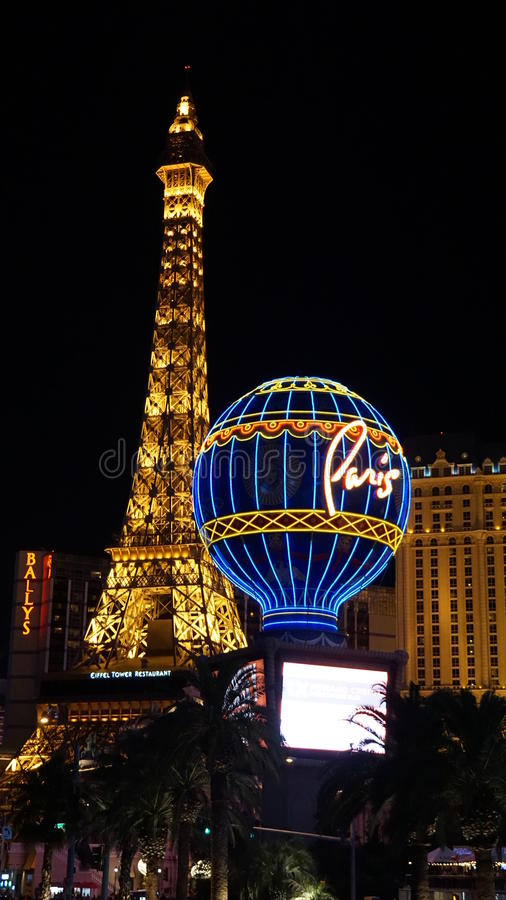 Hotel e casinò di Parigi a Las Vegas immagine stock libera da diritti