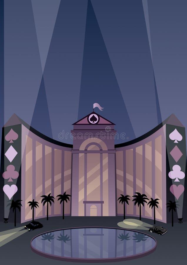 Hotel e casino ilustração do vetor