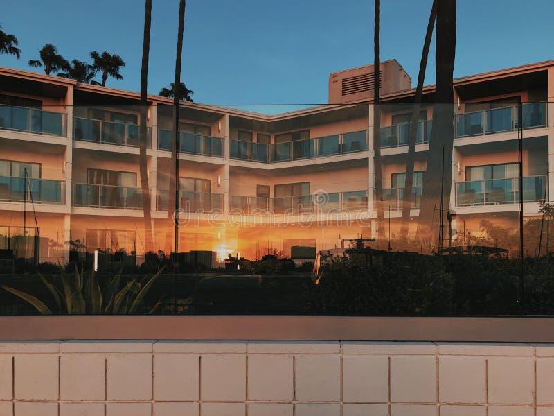 Hotel economico a basso costo in Marina del Rey, Stati Uniti fotografie stock libere da diritti