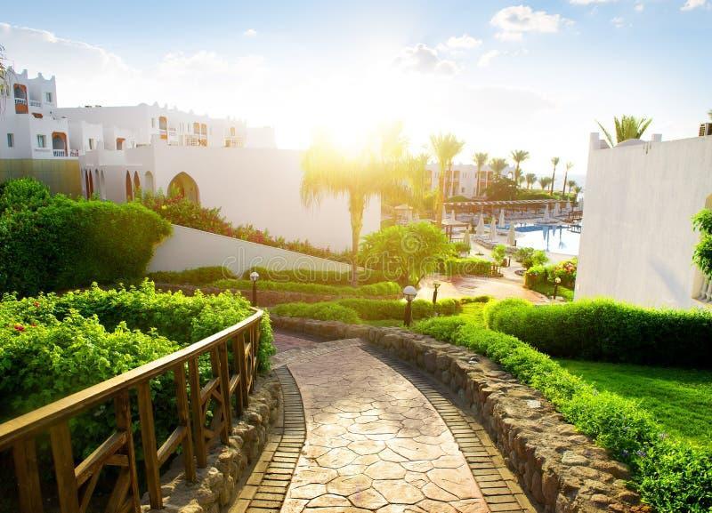 Hotel egiziano immagini stock