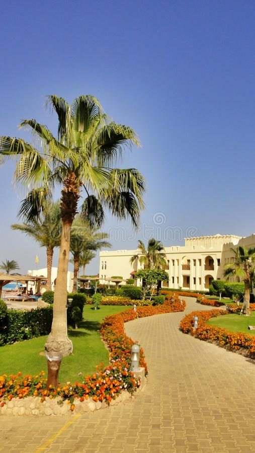 Hotel in Egypt stock photography