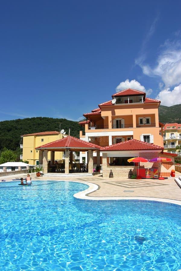 Hotel em Greece foto de stock