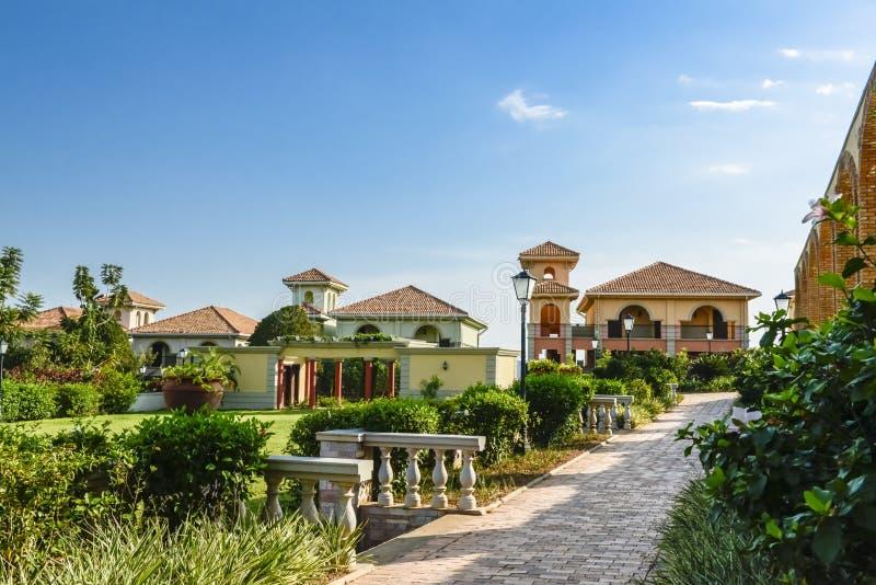 Hotel em Uganda no Lago Vitória foto de stock